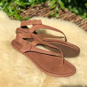 🍂🍁Tory Burch Mini Travel Sandals Sz 9.5🍂🍁
